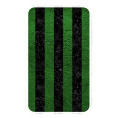 Stripes1 Black Marble & Green Leather Memory Card Reader