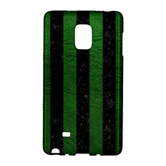 Stripes1 Black Marble & Green Leather Galaxy Note Edge