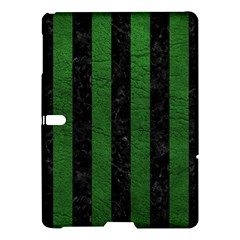 Stripes1 Black Marble & Green Leather Samsung Galaxy Tab S (10 5 ) Hardshell Case