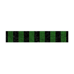 Stripes1 Black Marble & Green Leather Flano Scarf (mini)