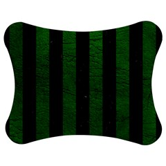 Stripes1 Black Marble & Green Leather Jigsaw Puzzle Photo Stand (bow)