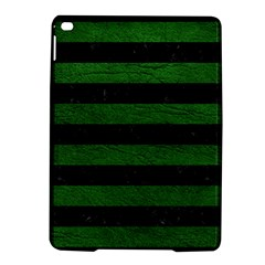 Stripes2 Black Marble & Green Leather Ipad Air 2 Hardshell Cases