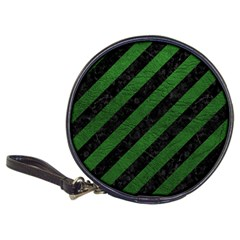 Stripes3 Black Marble & Green Leather Classic 20 Cd Wallets
