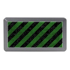 Stripes3 Black Marble & Green Leather Memory Card Reader (mini)