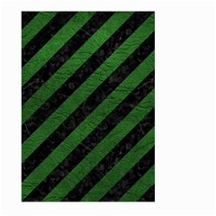 Stripes3 Black Marble & Green Leather Large Garden Flag (two Sides)