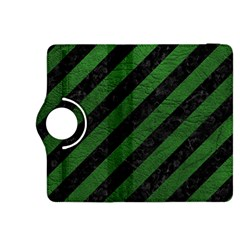 Stripes3 Black Marble & Green Leather Kindle Fire Hdx 8 9  Flip 360 Case