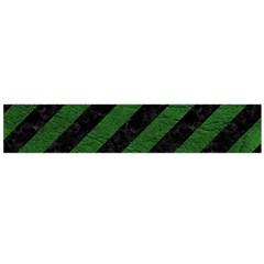 Stripes3 Black Marble & Green Leather Flano Scarf (large)