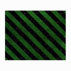 Stripes3 Black Marble & Green Leather (r) Small Glasses Cloth