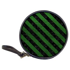 Stripes3 Black Marble & Green Leather (r) Classic 20 Cd Wallets