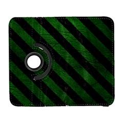 Stripes3 Black Marble & Green Leather (r) Galaxy S3 (flip/folio)