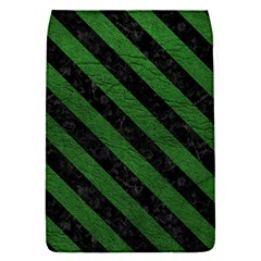 Stripes3 Black Marble & Green Leather (r) Flap Covers (s)