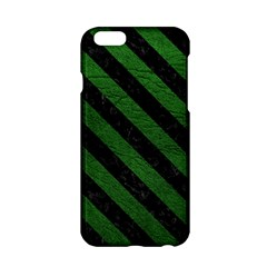 Stripes3 Black Marble & Green Leather (r) Apple Iphone 6/6s Hardshell Case