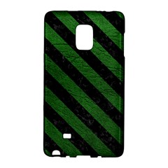 Stripes3 Black Marble & Green Leather (r) Galaxy Note Edge
