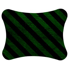 Stripes3 Black Marble & Green Leather (r) Jigsaw Puzzle Photo Stand (bow)