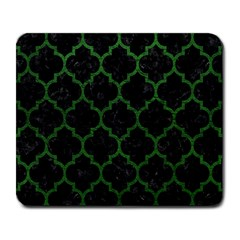 Tile1 Black Marble & Green Leather Large Mousepads