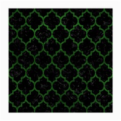 Tile1 Black Marble & Green Leather Medium Glasses Cloth (2 Side)