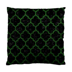 Tile1 Black Marble & Green Leather Standard Cushion Case (two Sides)