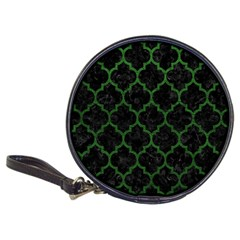 Tile1 Black Marble & Green Leather Classic 20 Cd Wallets