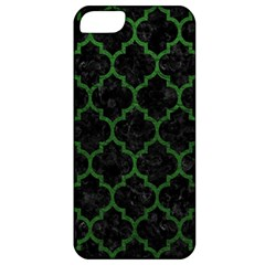 Tile1 Black Marble & Green Leather Apple Iphone 5 Classic Hardshell Case