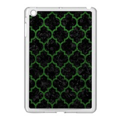 Tile1 Black Marble & Green Leather Apple Ipad Mini Case (white)
