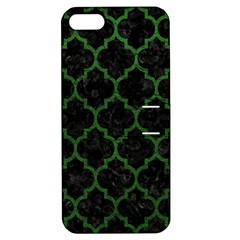 Tile1 Black Marble & Green Leather Apple Iphone 5 Hardshell Case With Stand