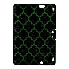 Tile1 Black Marble & Green Leather Kindle Fire Hdx 8 9  Hardshell Case
