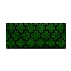 Tile1 Black Marble & Green Leather (r) Cosmetic Storage Cases