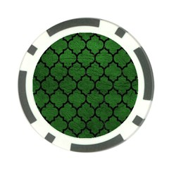 Tile1 Black Marble & Green Leather (r) Poker Chip Card Guard (10 Pack)