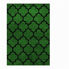 Tile1 Black Marble & Green Leather (r) Small Garden Flag (two Sides)