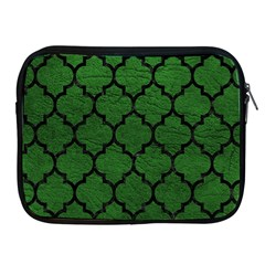 Tile1 Black Marble & Green Leather (r) Apple Ipad 2/3/4 Zipper Cases