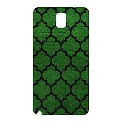 Tile1 Black Marble & Green Leather (r) Samsung Galaxy Note 3 N9005 Hardshell Back Case