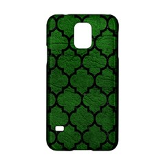 Tile1 Black Marble & Green Leather (r) Samsung Galaxy S5 Hardshell Case