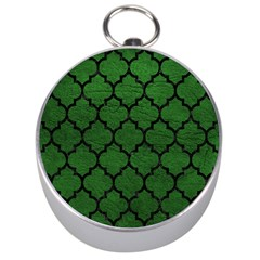 Tile1 Black Marble & Green Leather (r) Silver Compasses