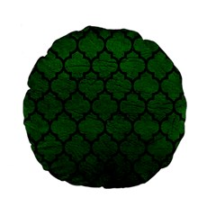 Tile1 Black Marble & Green Leather (r) Standard 15  Premium Flano Round Cushions
