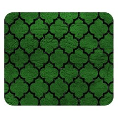 Tile1 Black Marble & Green Leather (r) Double Sided Flano Blanket (small)