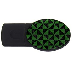 Triangle1 Black Marble & Green Leather Usb Flash Drive Oval (2 Gb)