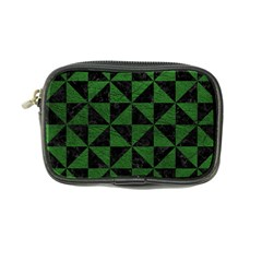 Triangle1 Black Marble & Green Leather Coin Purse