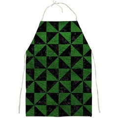 Triangle1 Black Marble & Green Leather Full Print Aprons