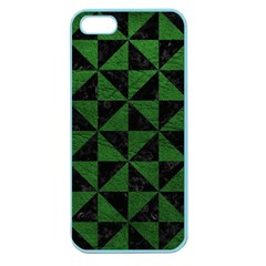 Triangle1 Black Marble & Green Leather Apple Seamless Iphone 5 Case (color)