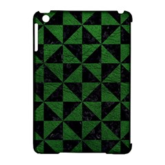 Triangle1 Black Marble & Green Leather Apple Ipad Mini Hardshell Case (compatible With Smart Cover)