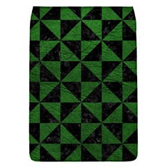Triangle1 Black Marble & Green Leather Flap Covers (s)
