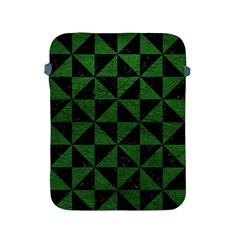 Triangle1 Black Marble & Green Leather Apple Ipad 2/3/4 Protective Soft Cases