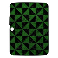 Triangle1 Black Marble & Green Leather Samsung Galaxy Tab 3 (10 1 ) P5200 Hardshell Case