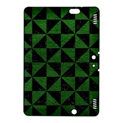 Triangle1 Black Marble & Green Leather Kindle Fire Hdx 8 9  Hardshell Case