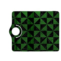 Triangle1 Black Marble & Green Leather Kindle Fire Hdx 8 9  Flip 360 Case
