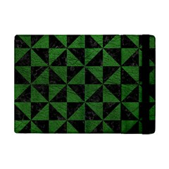 Triangle1 Black Marble & Green Leather Ipad Mini 2 Flip Cases