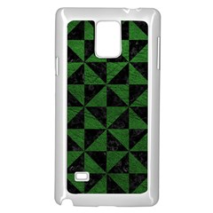 Triangle1 Black Marble & Green Leather Samsung Galaxy Note 4 Case (white)