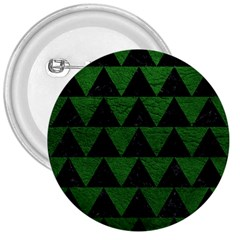 Triangle2 Black Marble & Green Leather 3  Buttons