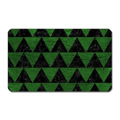 Triangle2 Black Marble & Green Leather Magnet (rectangular)