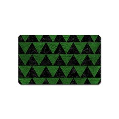 Triangle2 Black Marble & Green Leather Magnet (name Card)